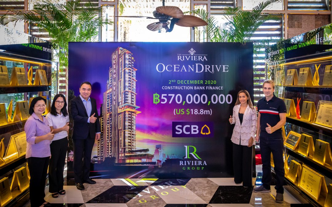 Riviera Ocean Drive receives 570 million THB Construction Load from SCB.